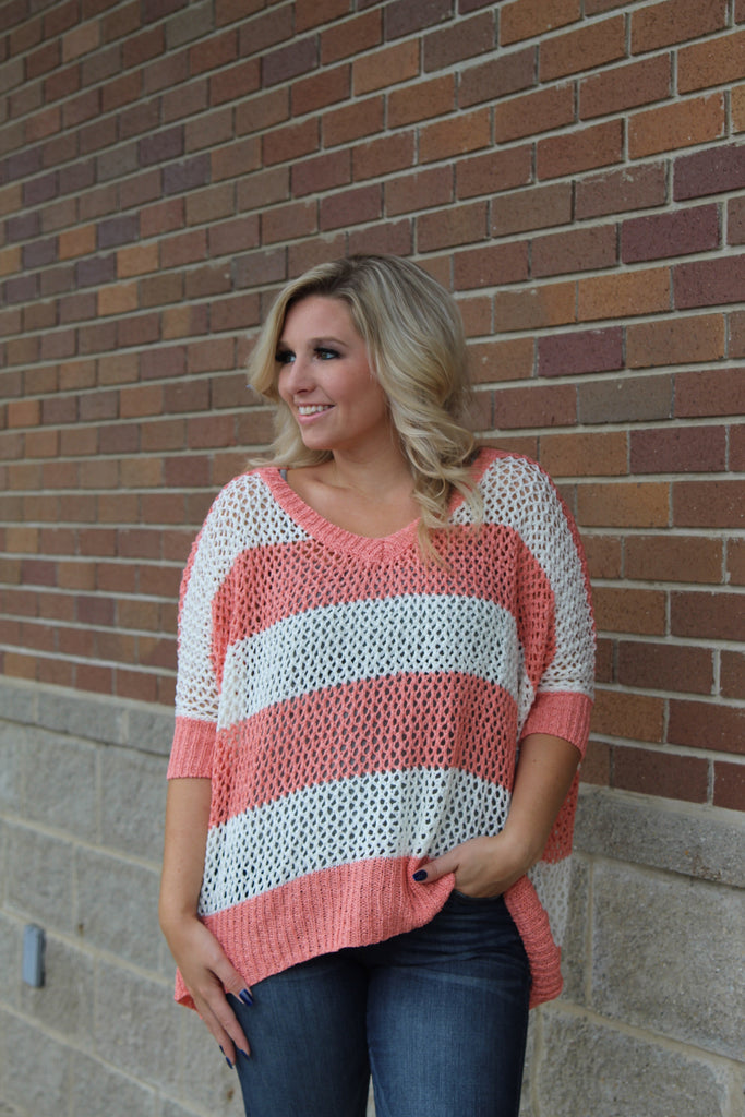 All Day Long Top Coral