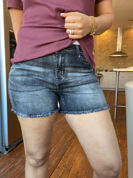 The Brielle Denim Short In Curvy