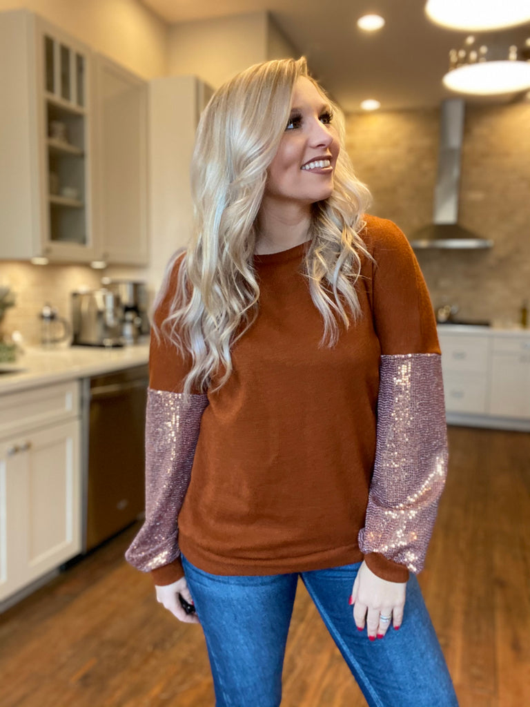 The Caitlyn Sequin Top