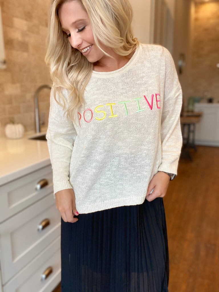 Positive Knit Sweater