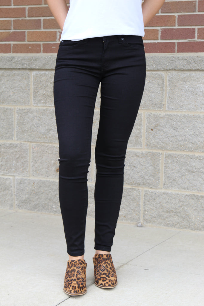Unapologetic Black Non Distressed Denim