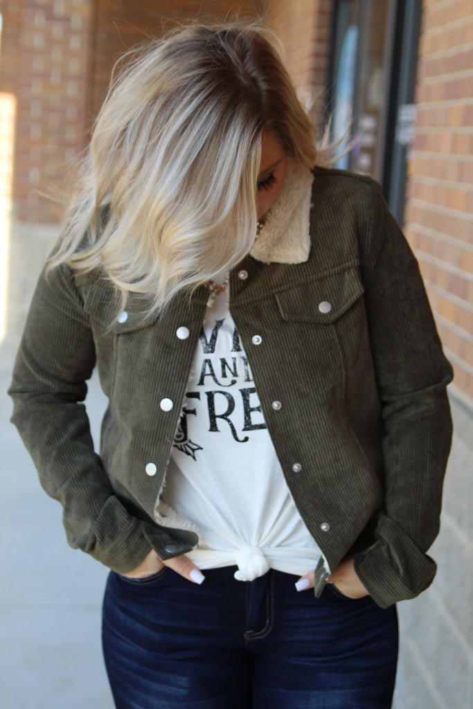 Just The Way You Are Olive Jacket