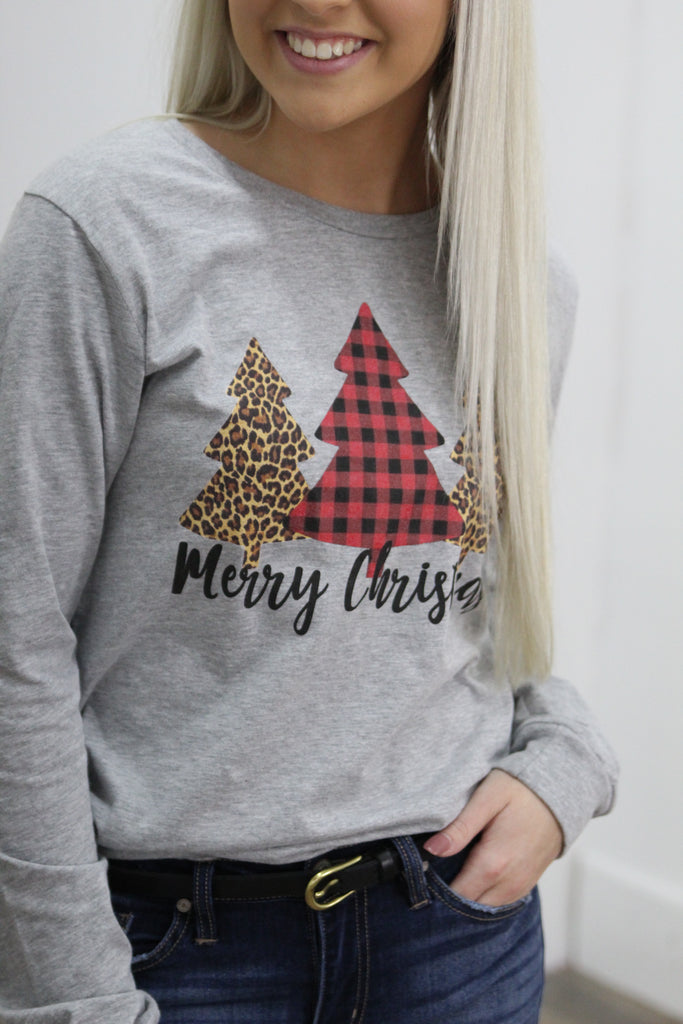 Leopard & Plaid Christmas Graphic