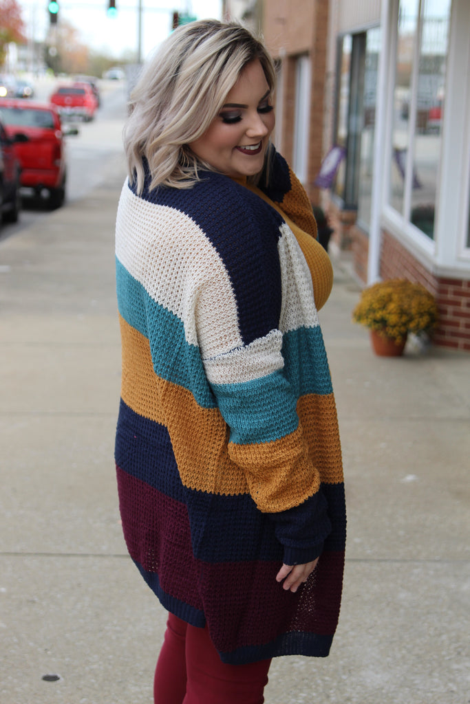 Never The Same Color Block Cardigan