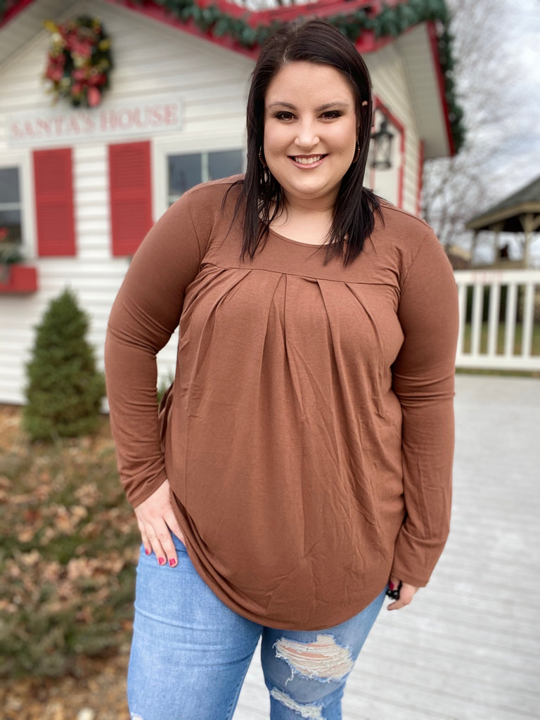 Light Of Day Top In Light Brown-P
