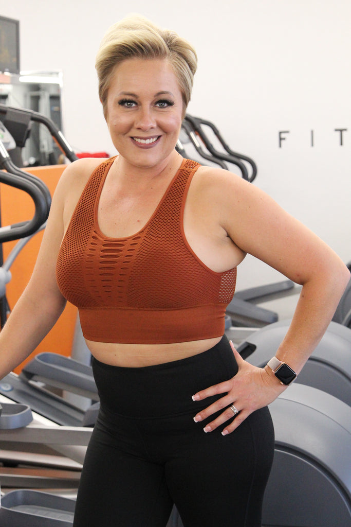 Heatwave Sports Bra - Acorn