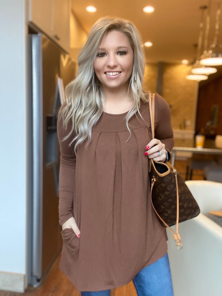 Light Of Day Top in Light Brown