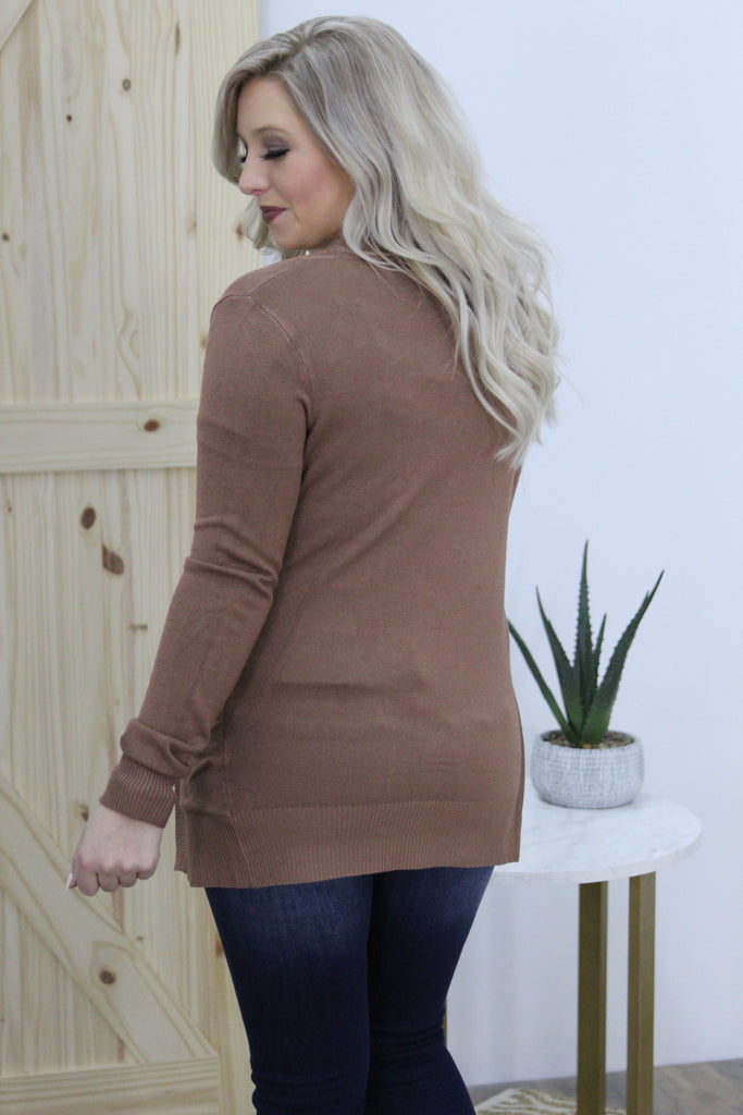 Hopes and Dreams Cardigan In Tan