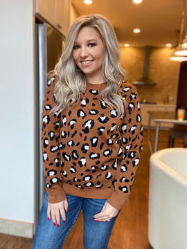 The Leopard Candidate Sweater