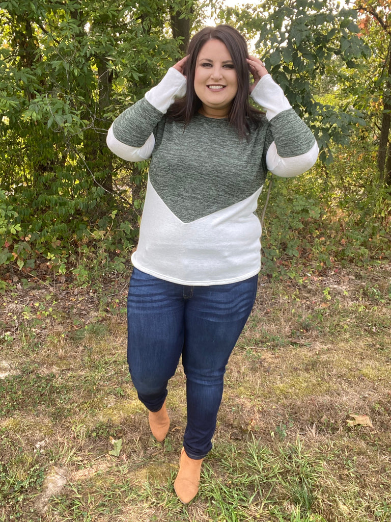 The Evie Color Block Sweater