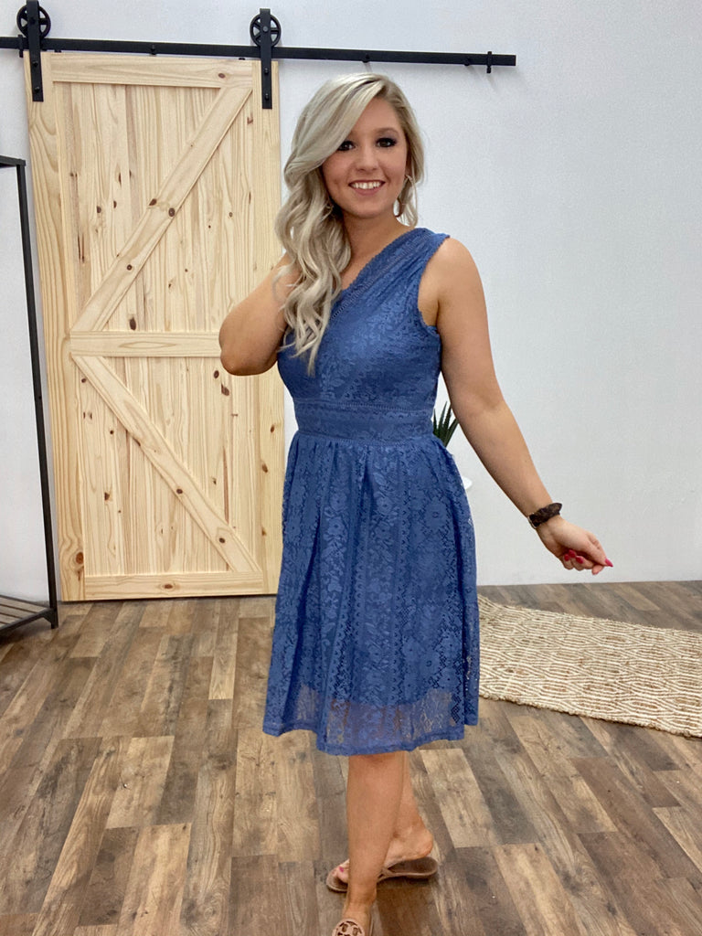 Never Stop Dreaming Slate Blue Dress
