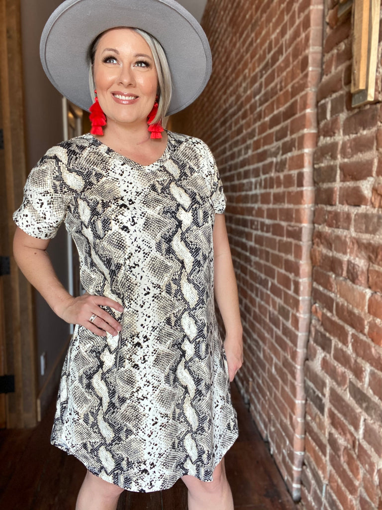 Texas Snakeskin Dress