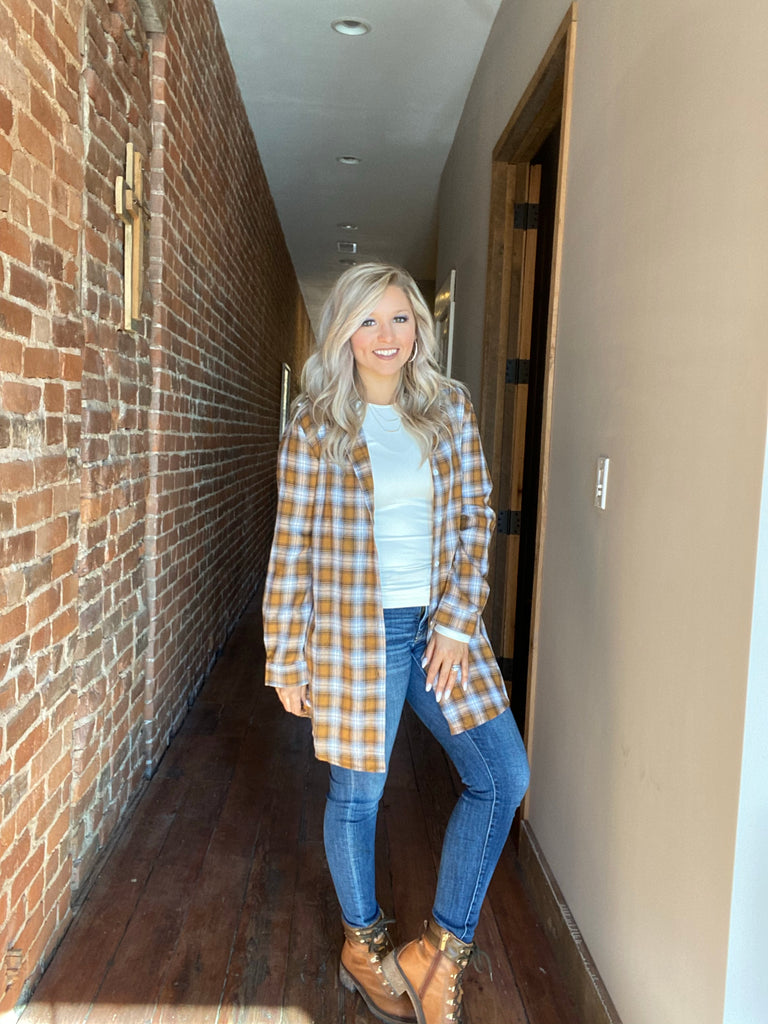 Outback Adventure Plaid Top