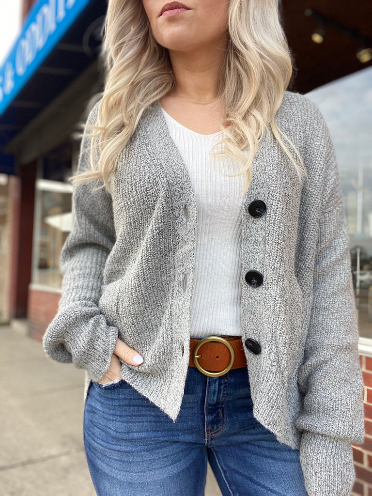 Be Inspired Heather Grey Cardigan