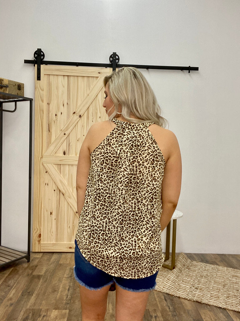 Blushing Beauty Leopard Tank