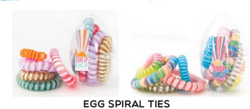 Jadelynn Brooke Egg Spiral Hair Ties