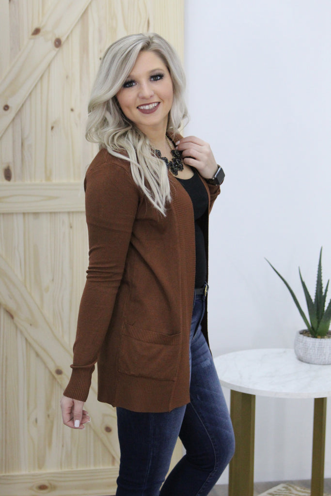 Hopes and Dreams Cardigan in Brown