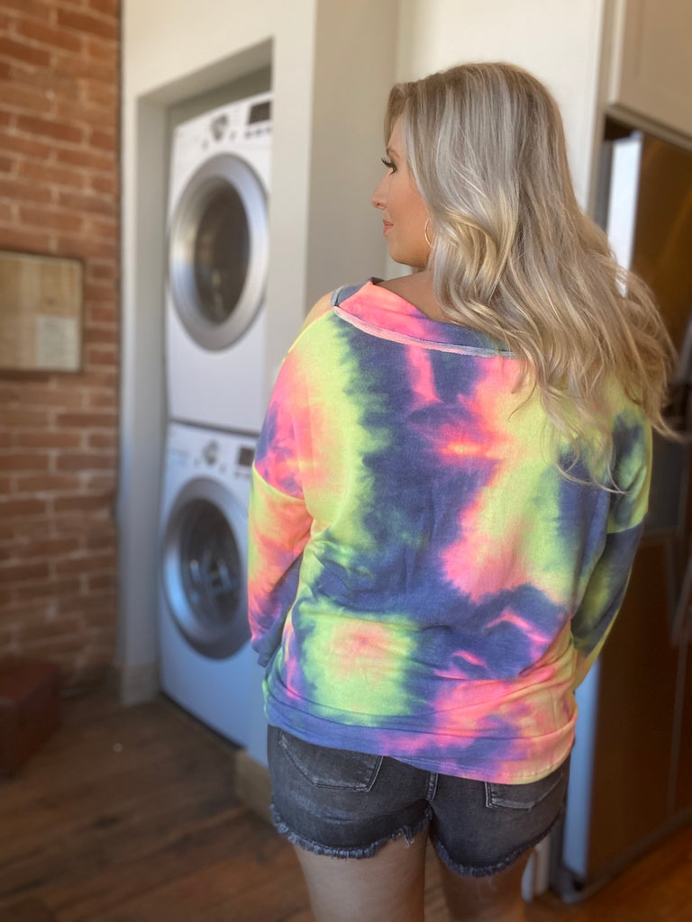 Save Your Tears in Charcoal Tie Dye