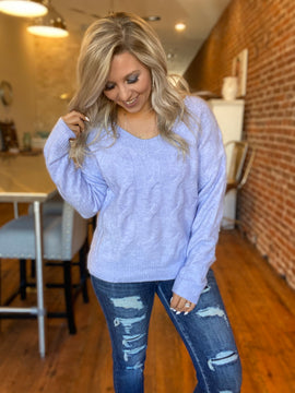The Best Of Me Periwinkle Sweater