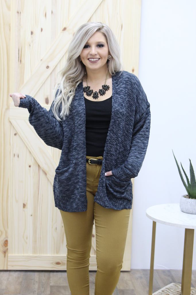 Like You Do Cardigan In Navy