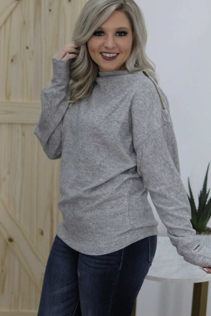 Still Beautiful Heather Grey Dollman Top