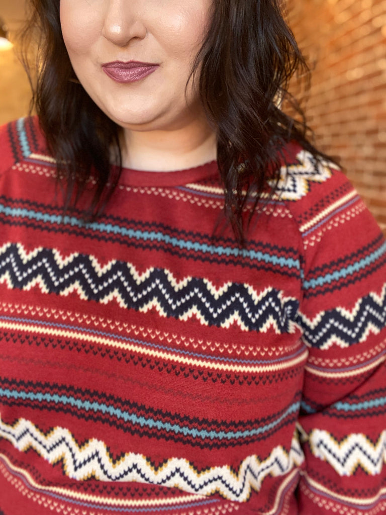 Edge Of Midnight Top In Burgundy