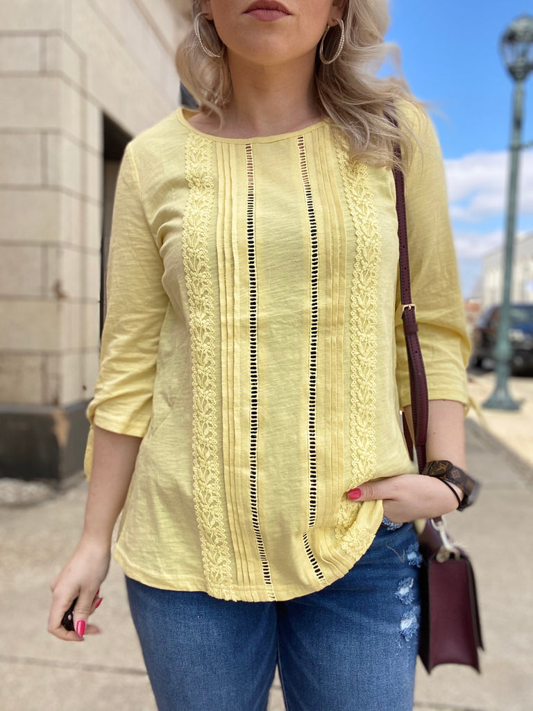 Here & Now Lemon Blouse