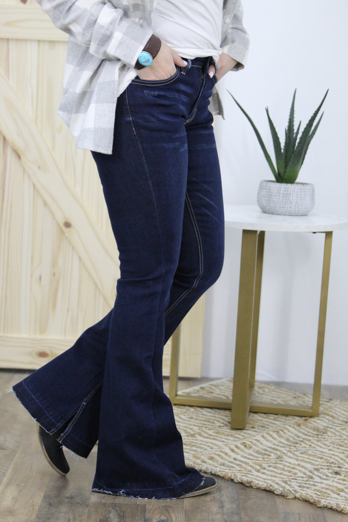 The Ashley Mid Rise Flare Bootcut