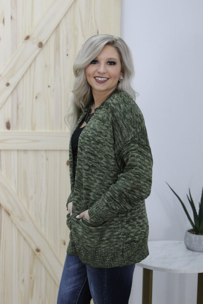 Like You Do Cardigan in Olive
