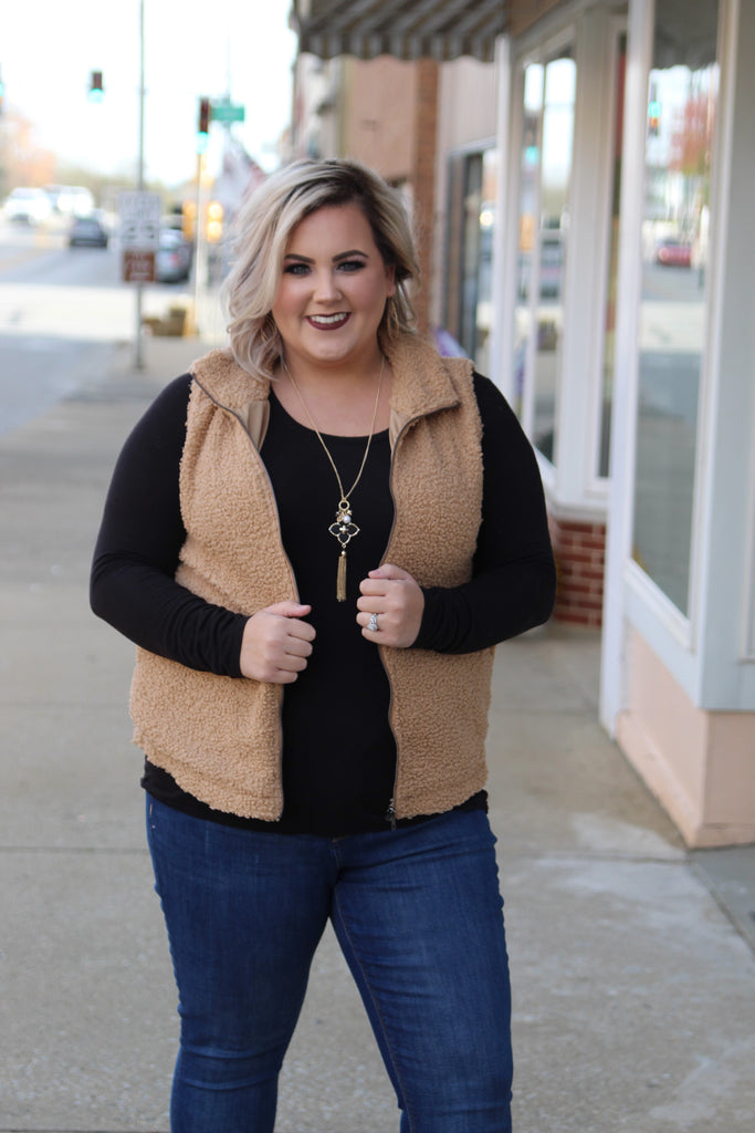 Night Fall Vest In Latte