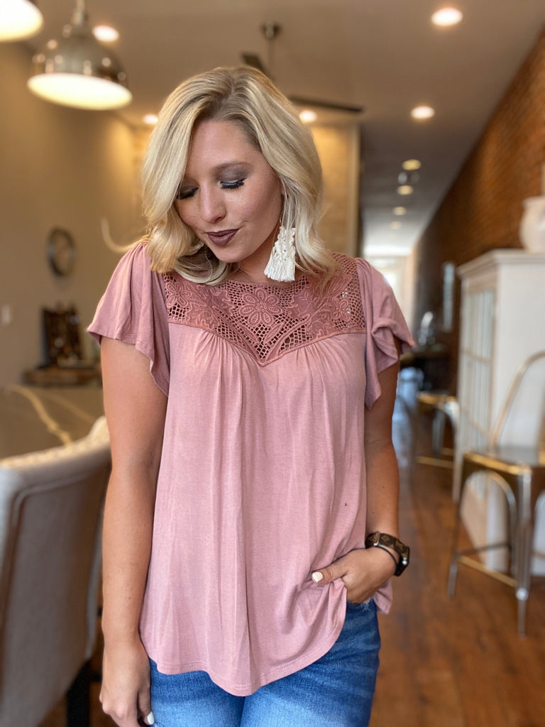 Elegant Nights Mauve Top