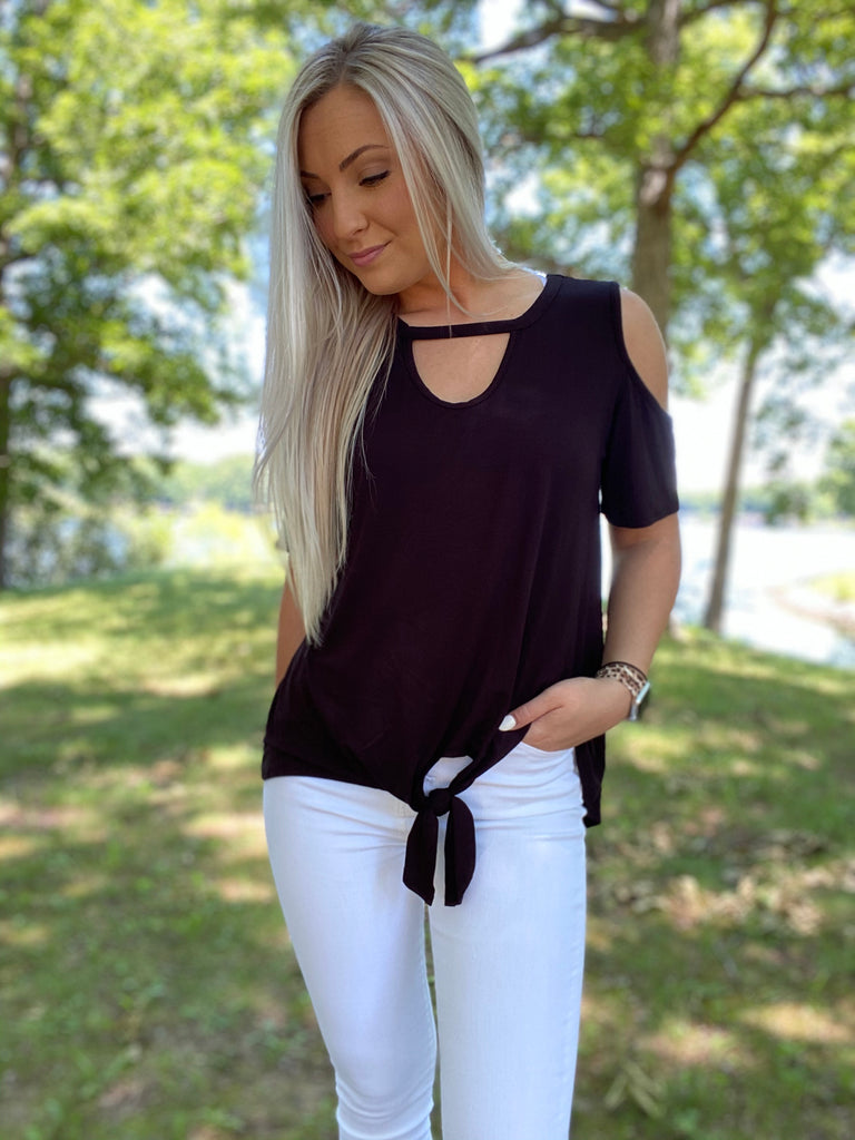 Look At You Cold Shoulder Top