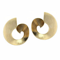 Gold Vortex Earrings