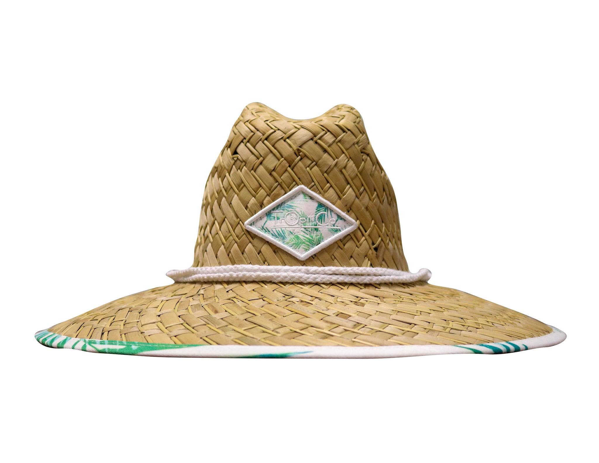 Bimini - tropii co. Cool straw hat with American flag design under the brim