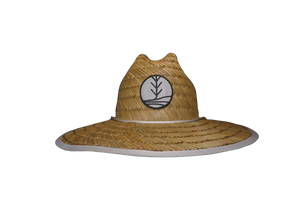 Maui Waui - tropii co. Cool straw hat with American flag design under the brim