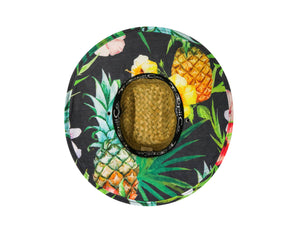 Piña - tropii co. Cool straw hat with American flag design under the brim