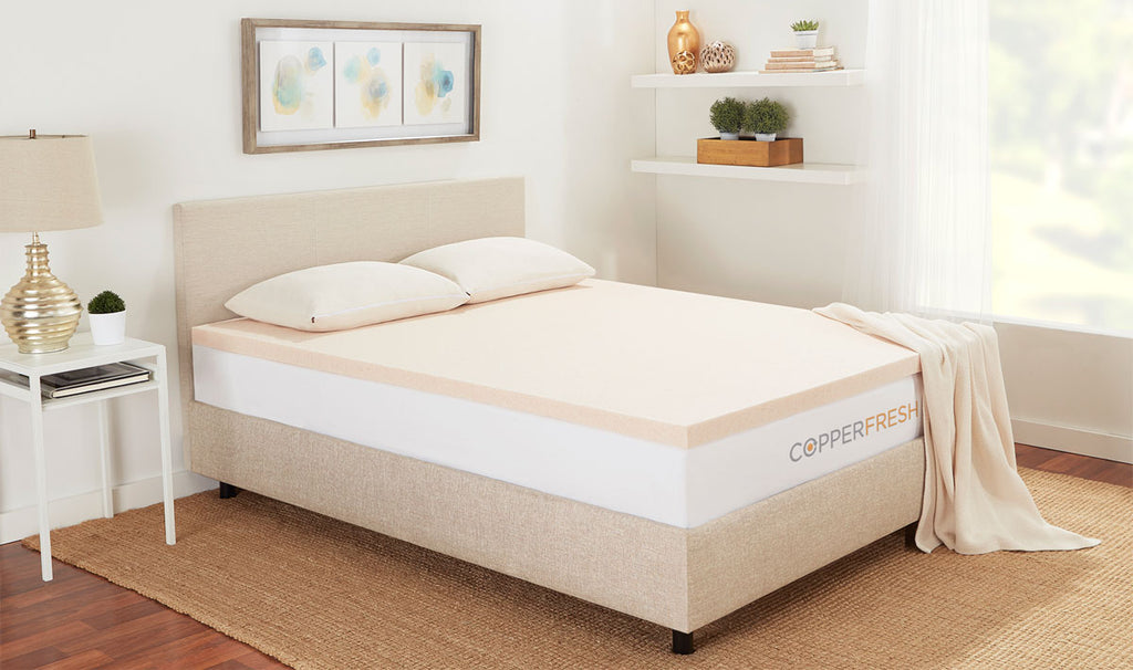 CopperFresh Extra Support Gel Foam Mattress Topper
