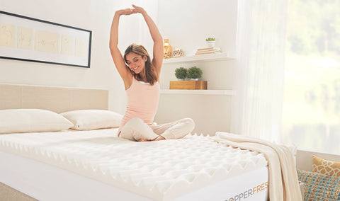 CopperFresh Wave Foam Mattress Topper