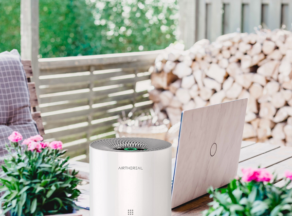 spend time outdoors with an air purifier