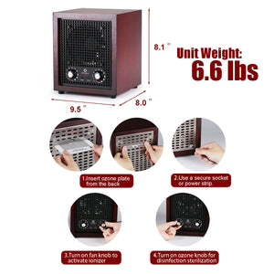 WA600 Ozone Air Purifier 600mg/h with Anion, 12V (Car Outlet Compatible)