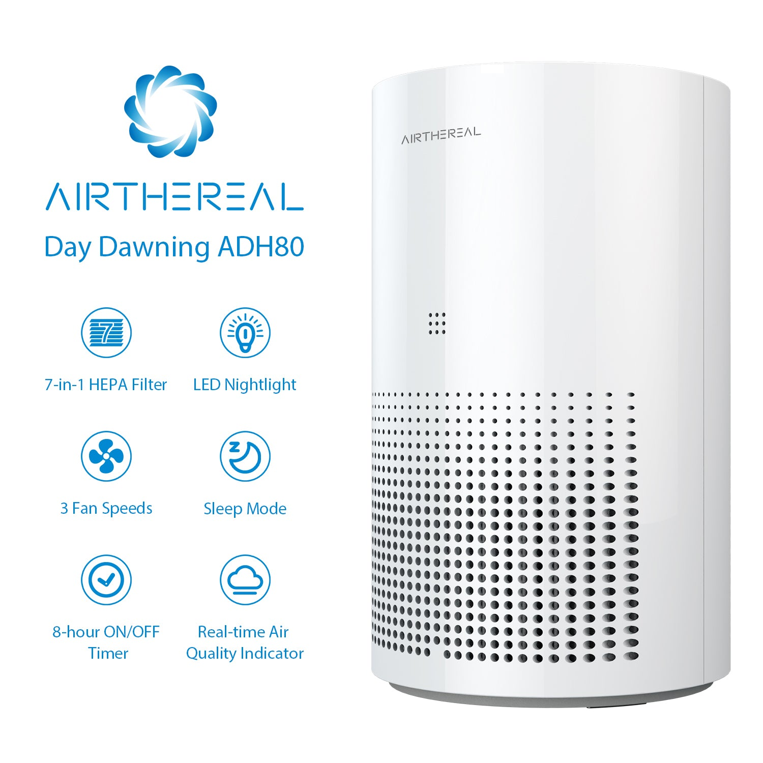 Airthereal Day Dawning ADH80 7-in-1 True HEPA Air Purifier 02