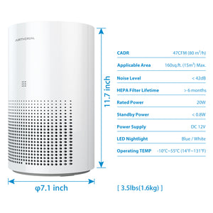 Airthereal Day Dawning ADH80 7-in-1 True HEPA Air Purifier 07