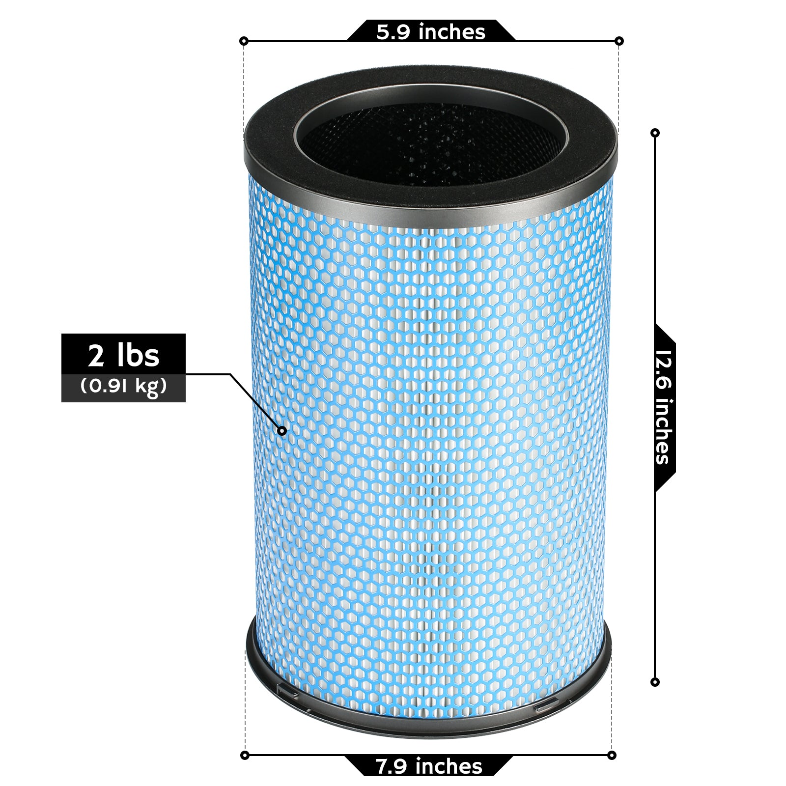 AGH380 H13 HEPA Medical Grade Replacement Filter
