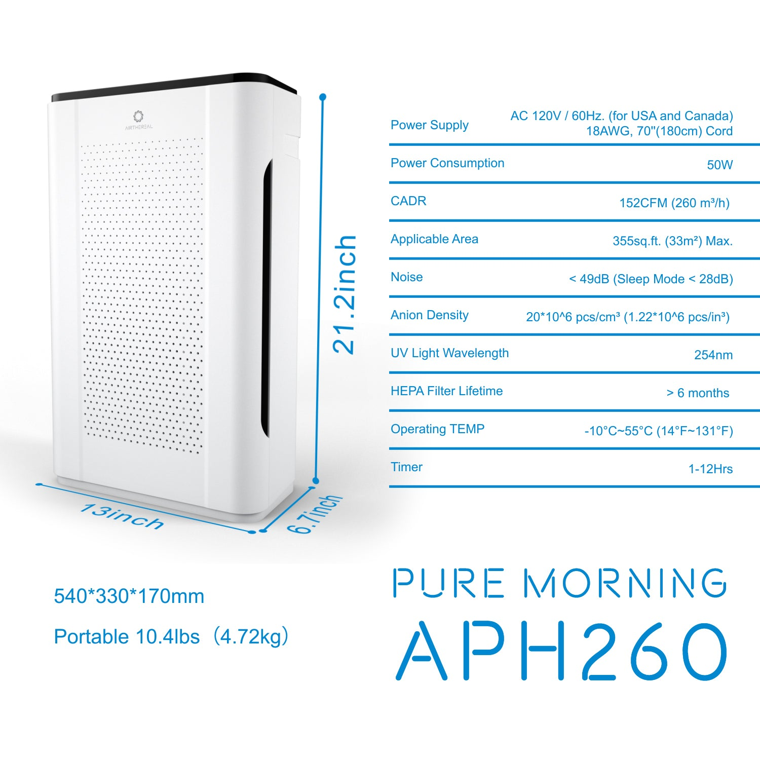 Pure-Morning-APH260-HEPA-Air-Purifier-Replacement-Filter-07