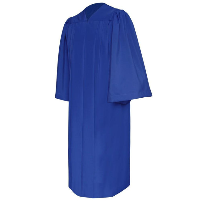 Deluxe Royal Blue Choir Robe - Churchings
