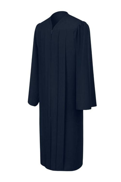 Matte Navy Blue Choir Robe - Churchings