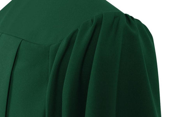 Matte Hunter Choir Robe - Church Choir Robes - ChoirBuy