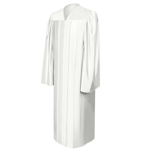 Shiny White Choir Robe - Churchings