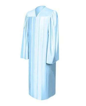 Shiny Light Blue Choir Robe - Churchings