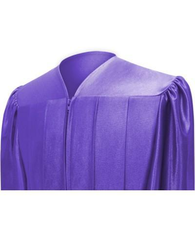 Shiny Purple Choir Robe - Churchings